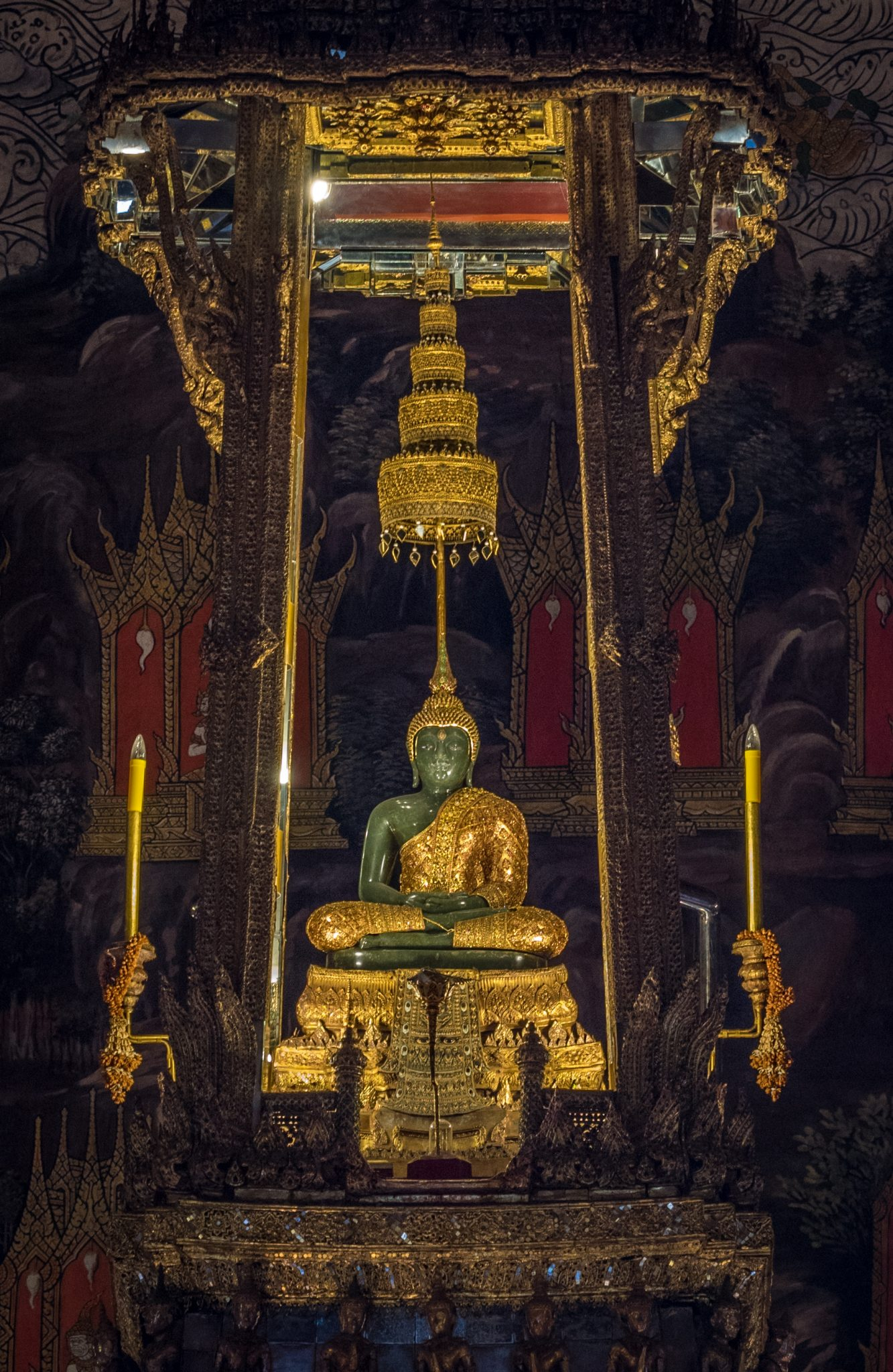 The Emerald Buddha, Wat Phra Kaew, the Grand Palace, Bangkok, Thailand