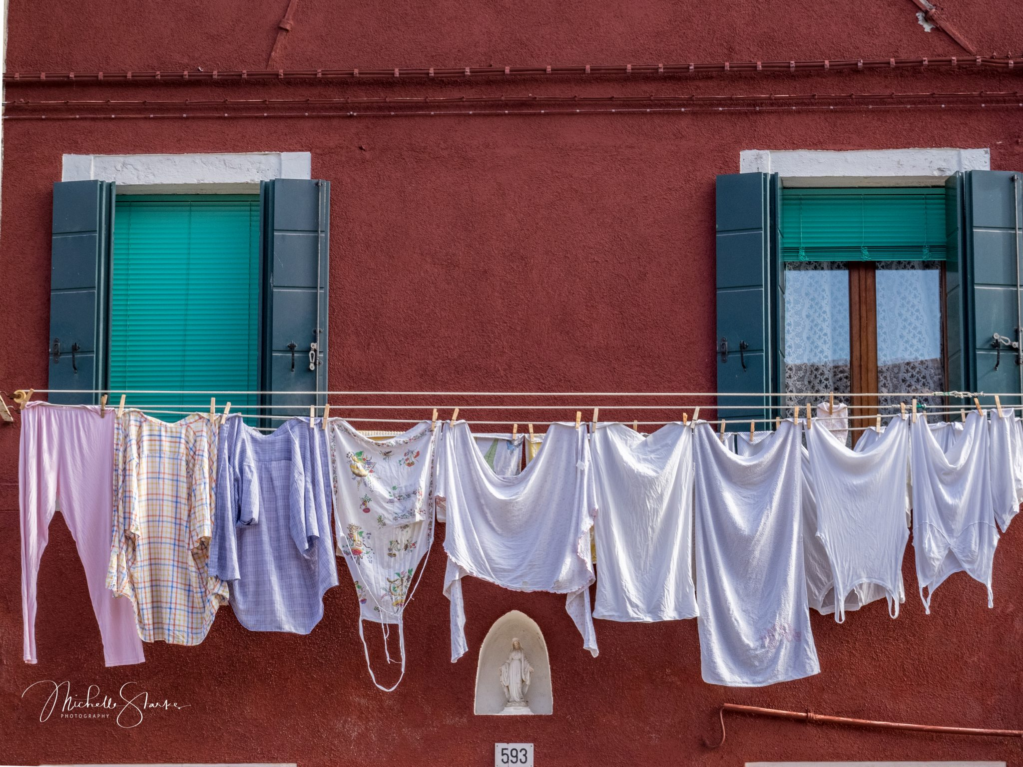Laundry day, Burano, Italy