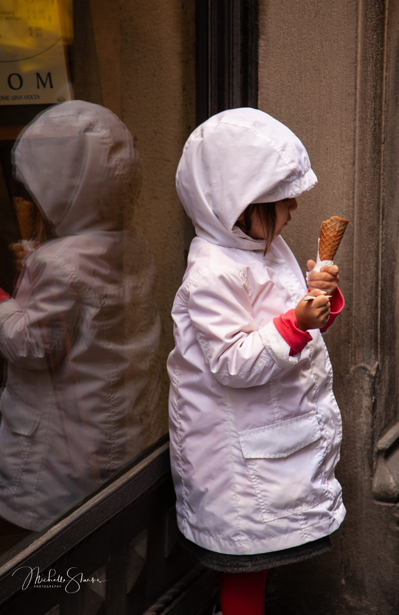 Afternoon ice cream, Florence, Italy