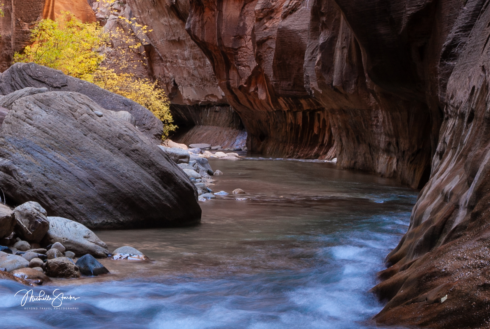 """The Narrows"" Virgin River, Zion National Park, Springdale, UT"