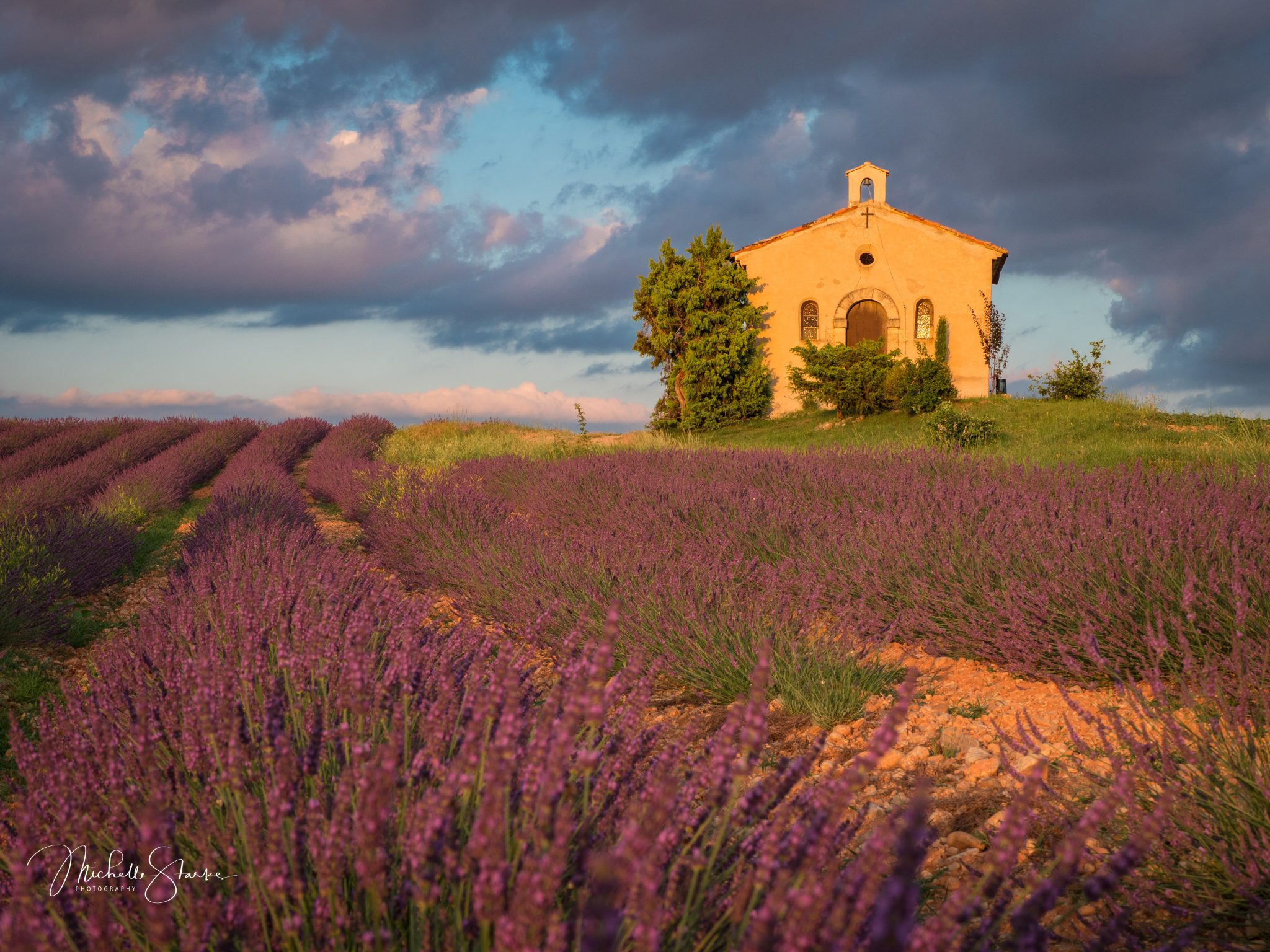 Chapel on a Hill, Plateau de Valensole, Provence, France 6/27/18
