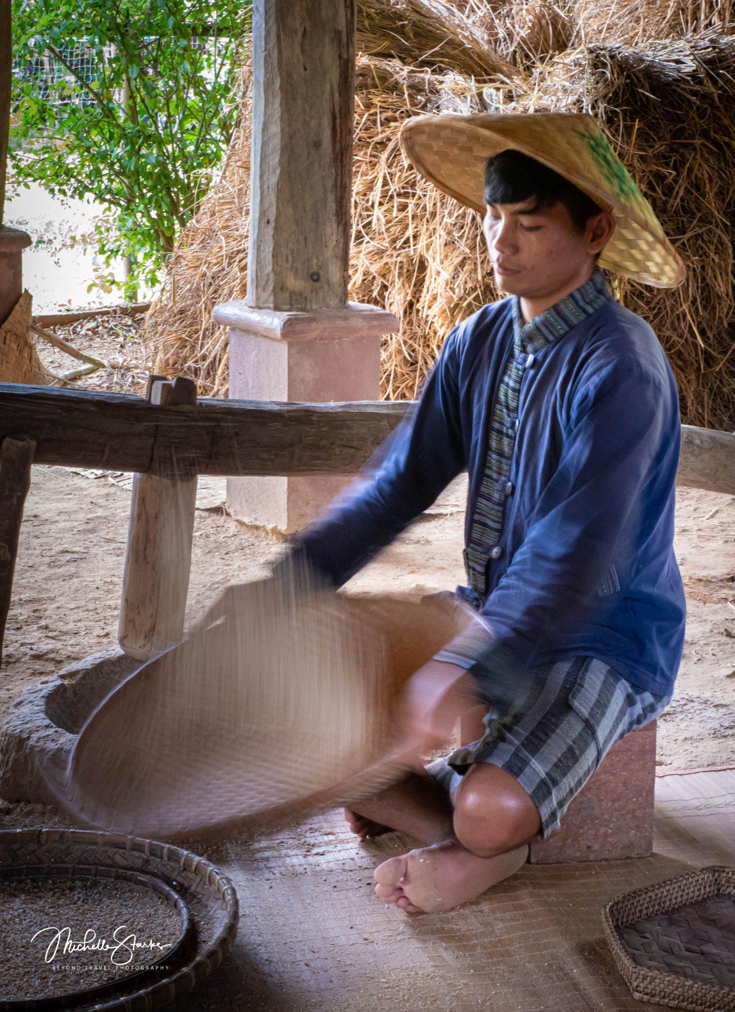 Separating Rice, Luang Prabang, Laos 11/5/19